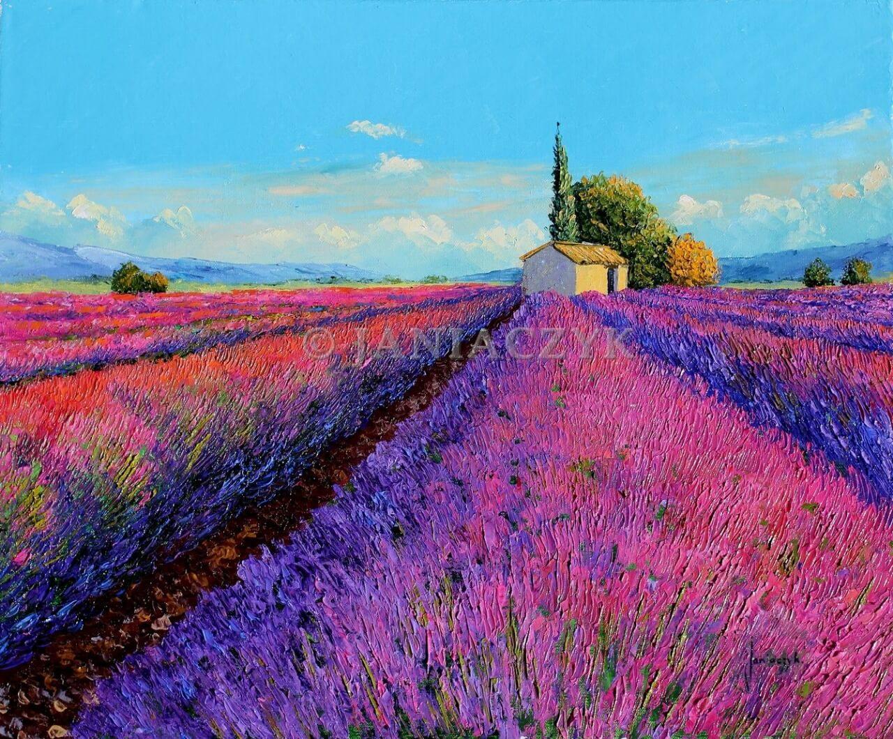фото картин с лавандовым полем жадеит
