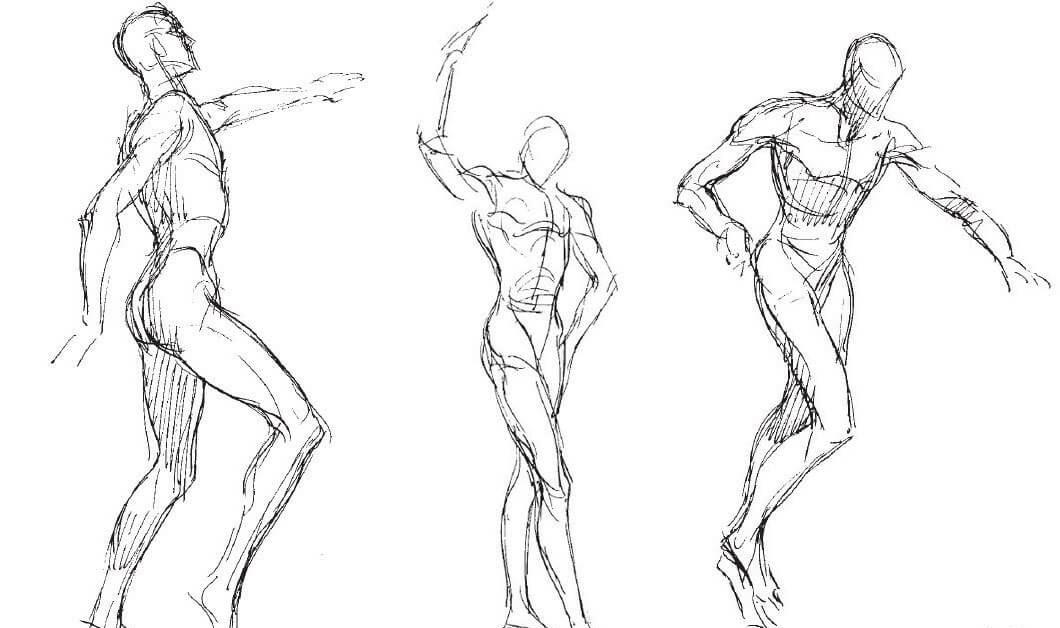 картинки нарисовать человека в движении подобные