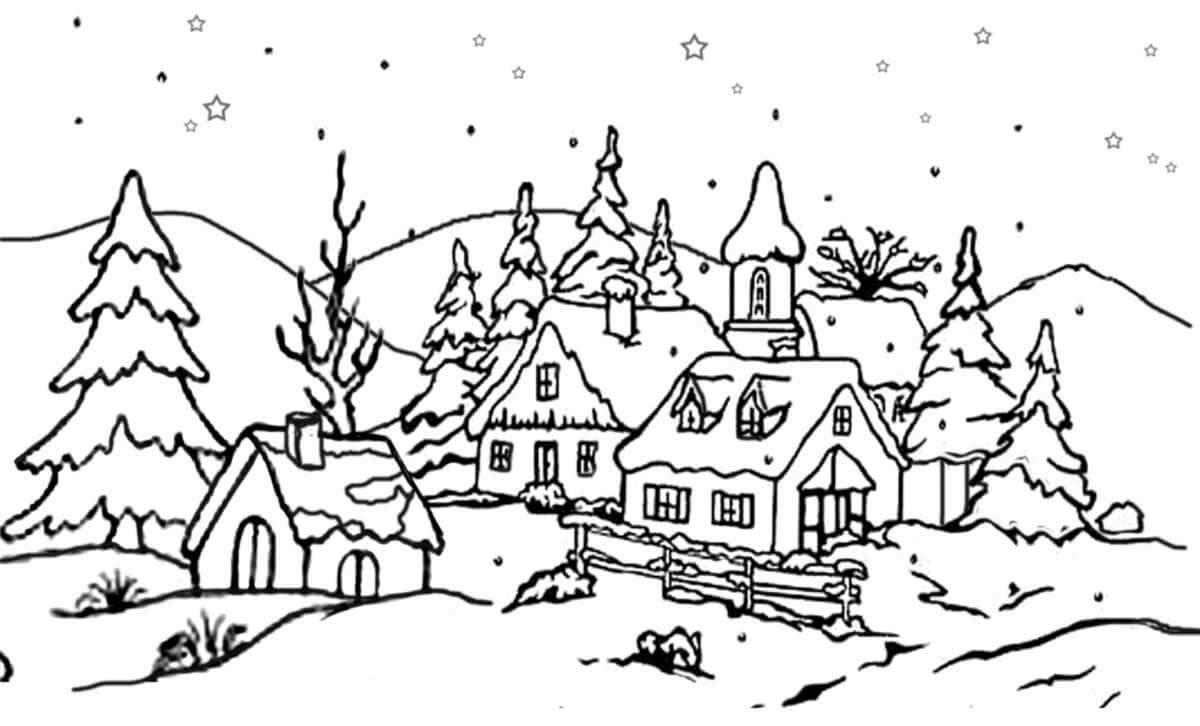 фарша котлеты зимние картинки нарисовать черно белые достойным обрамлением