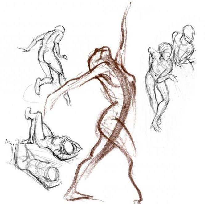 Как нарисовать человека в движении карандашом