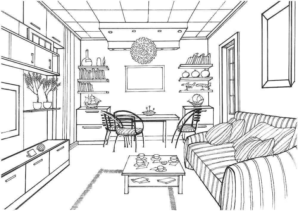 Картинки рисованные комнаты
